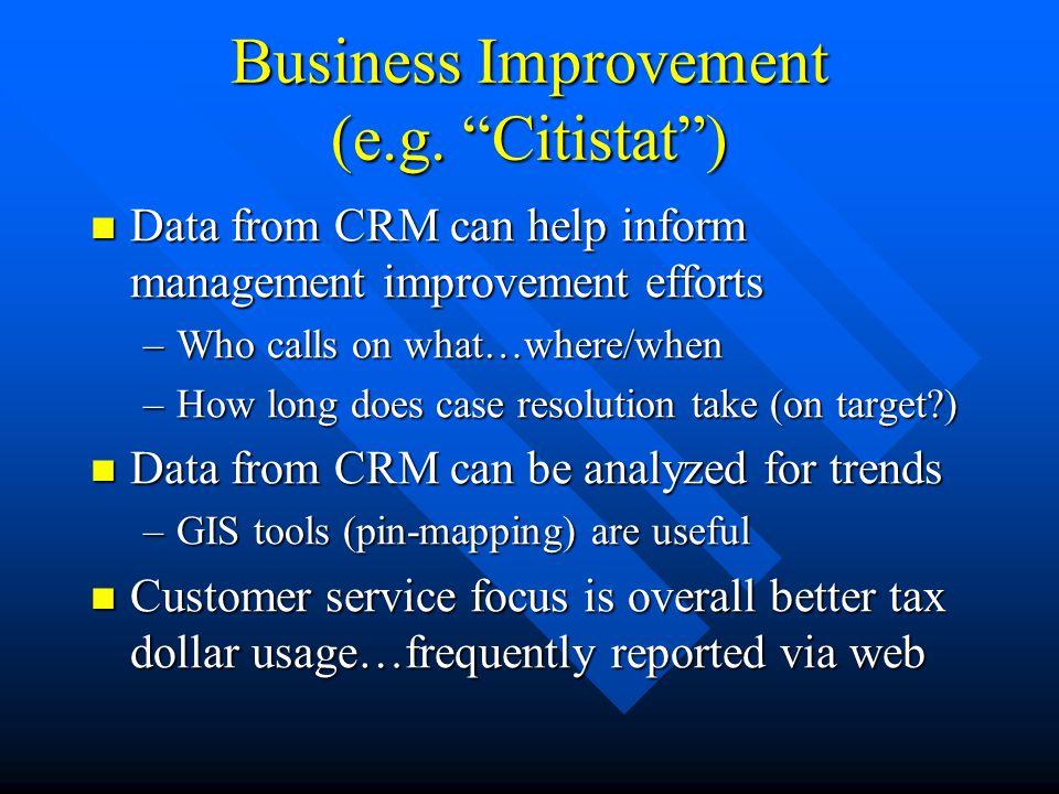 Business Improvement (e.g.