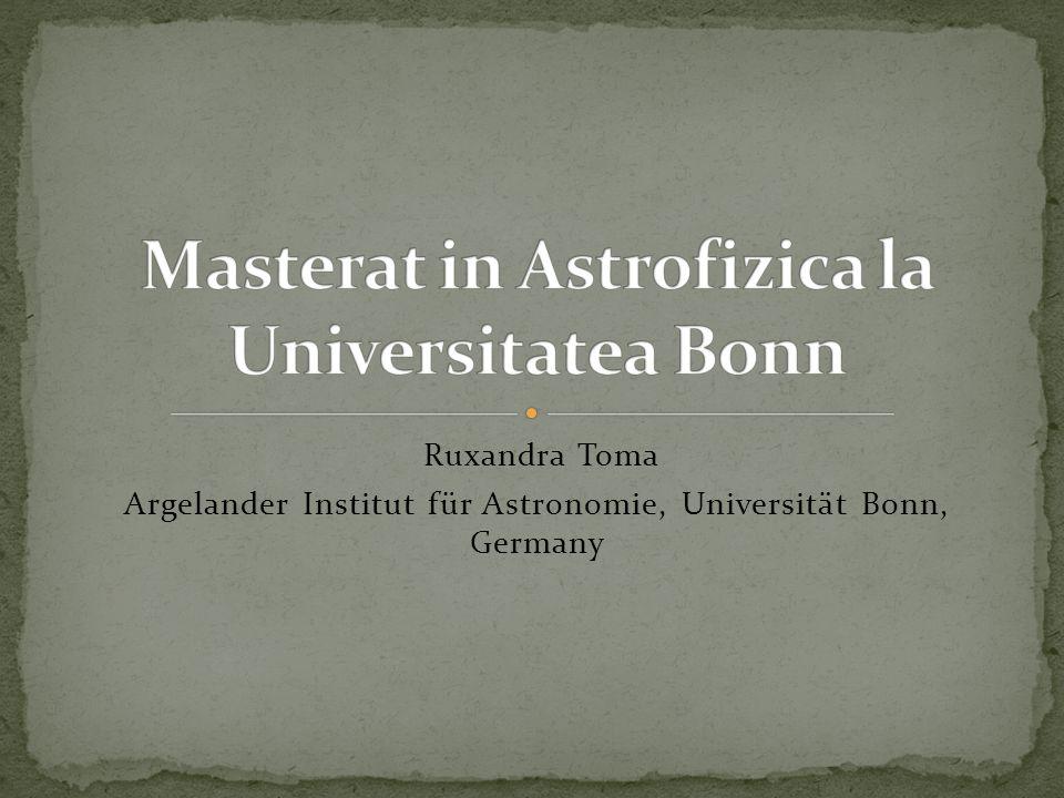 Ruxandra Toma Argelander Institut für Astronomie, Universität Bonn, Germany