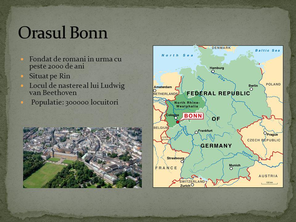 Fondat de romani in urma cu peste 2000 de ani Situat pe Rin Locul de nastere al lui Ludwig van Beethoven Populatie: 300000 locuitori