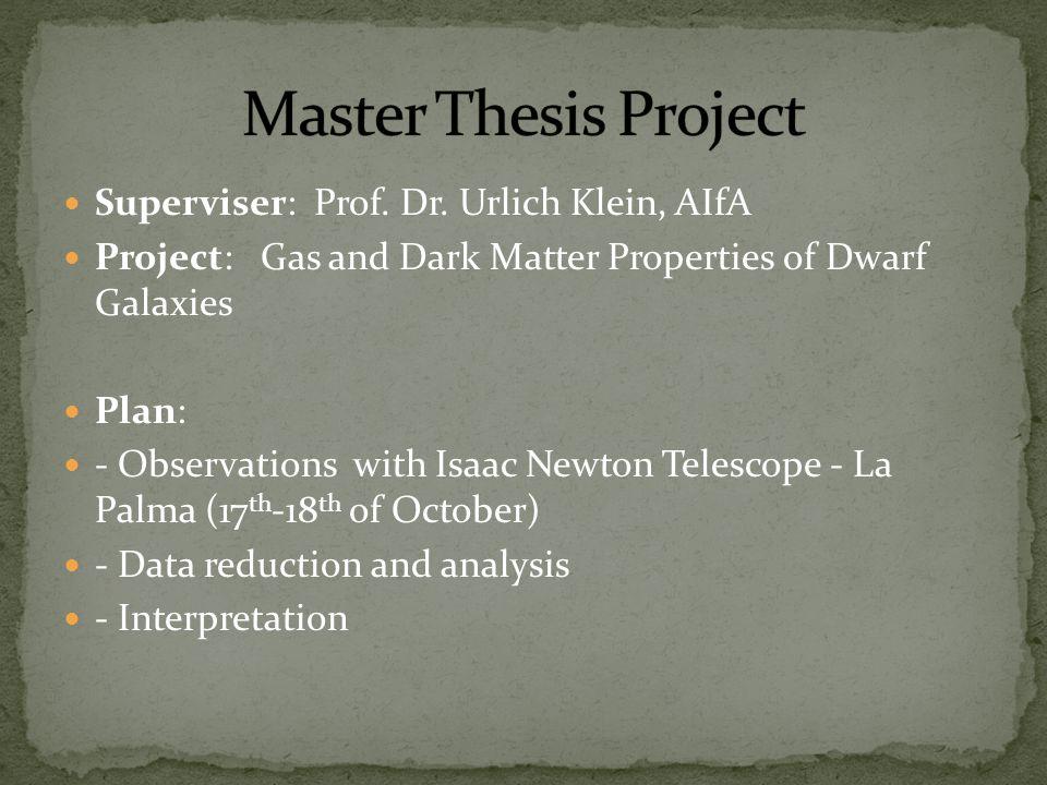 Superviser: Prof. Dr.