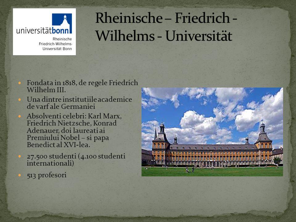 Fondata in 1818, de regele Friedrich Wilhelm III.