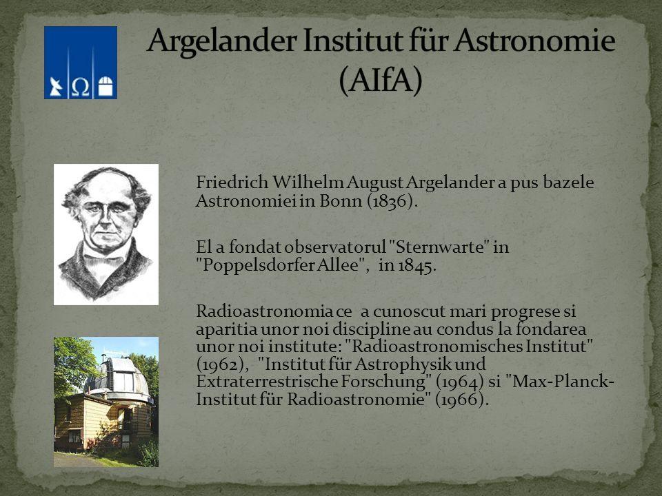 Friedrich Wilhelm August Argelander a pus bazele Astronomiei in Bonn (1836).