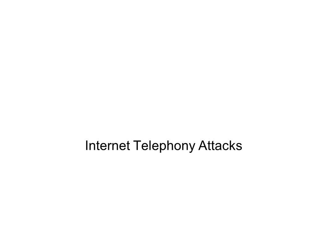 Internet Telephony Attacks