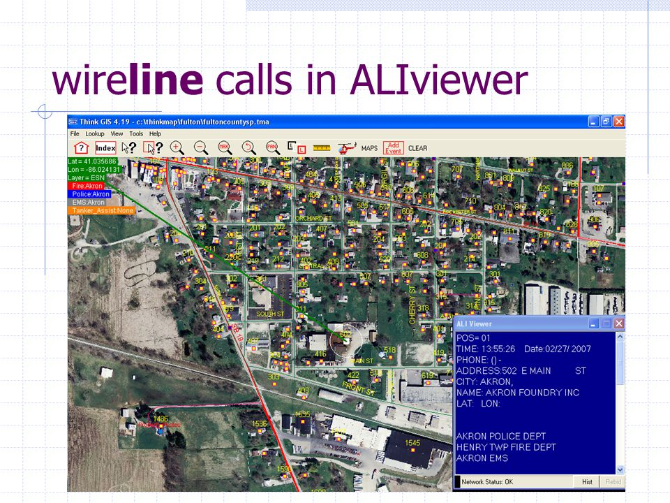 wireline calls in ALIviewer