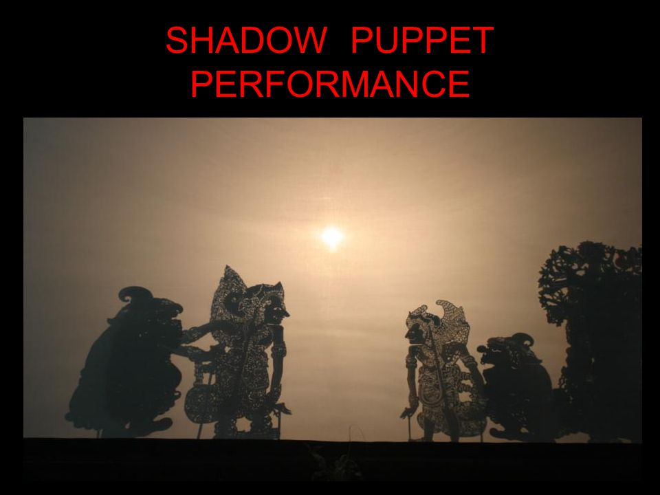 SHADOW PUPPET PERFORMANCE