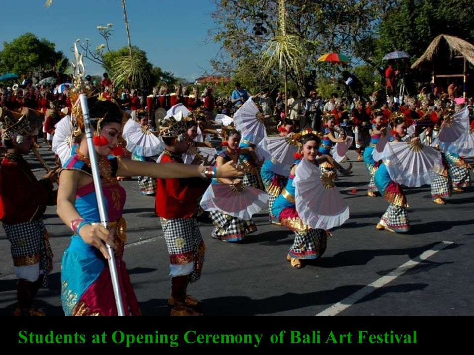Students at Opening Ceremony of Bali Art Festival