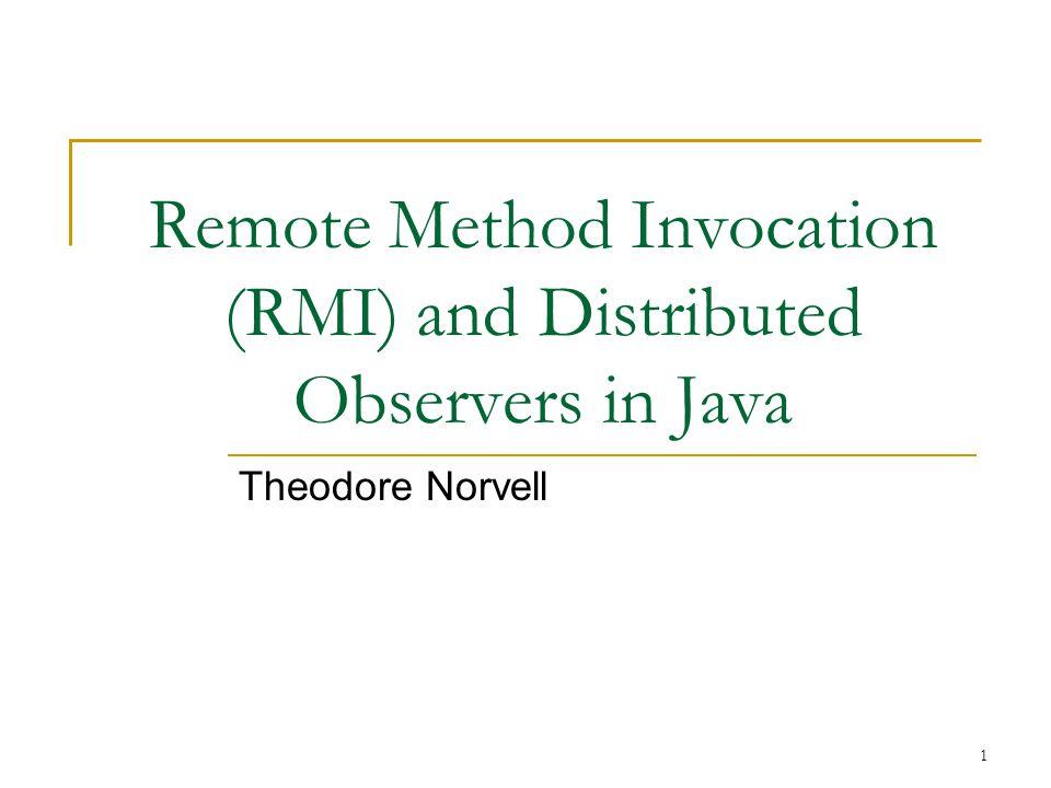 © 2004-10 T. S. Norvell Engineering 5895 Memorial University RMI. Slide 12 Observer Pattern