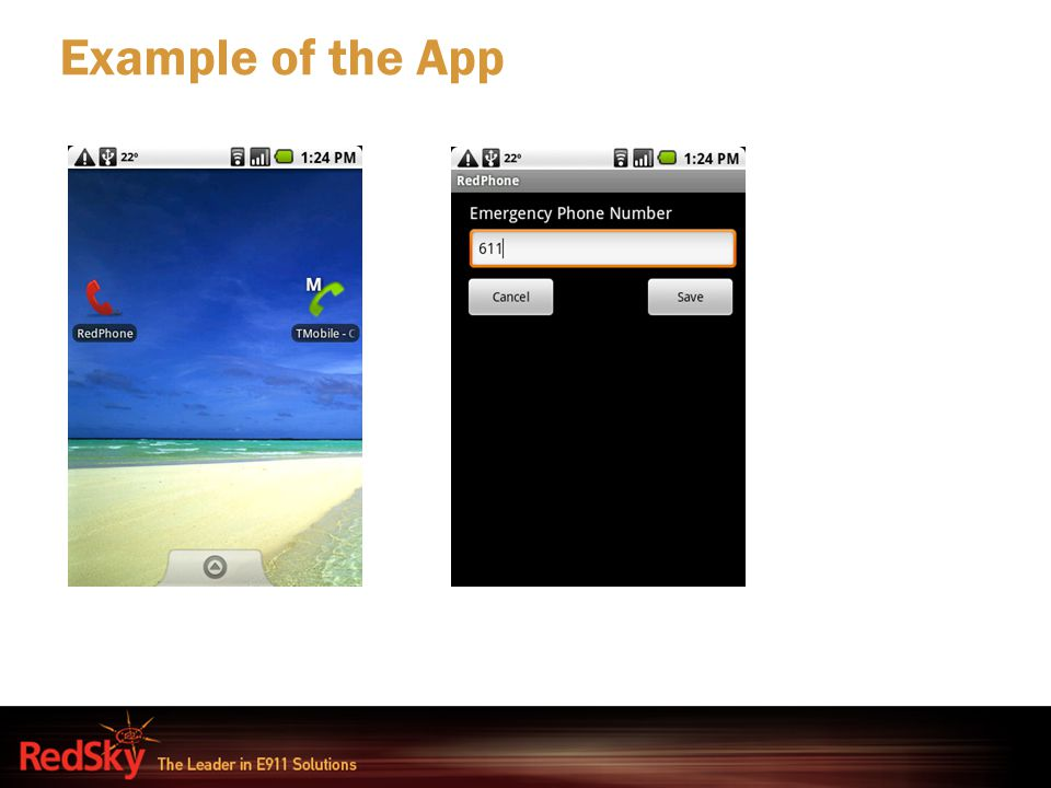 Example of the App