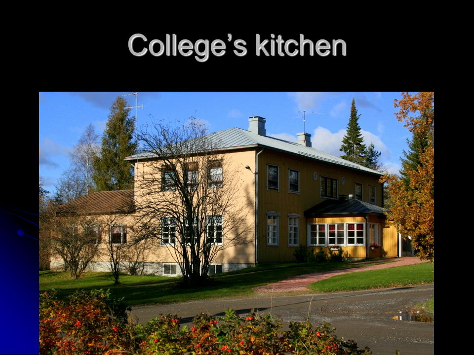 College's kitchen