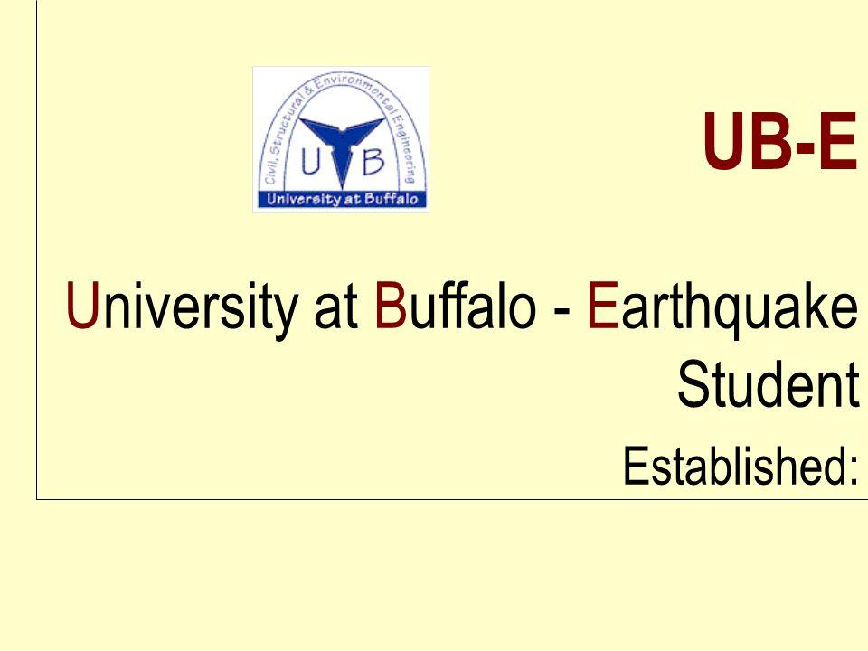 University at Buffalo - Earthquake Student Established: UB-E
