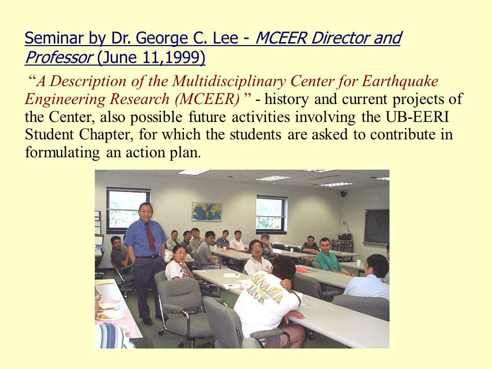 Seminar by Dr. George C.