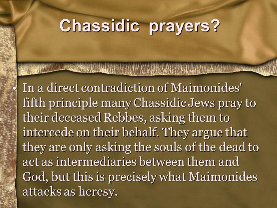 Chassidic prayers.