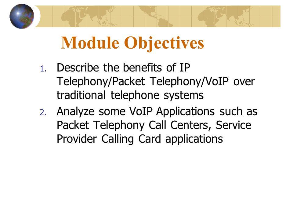 Module Objectives 1.
