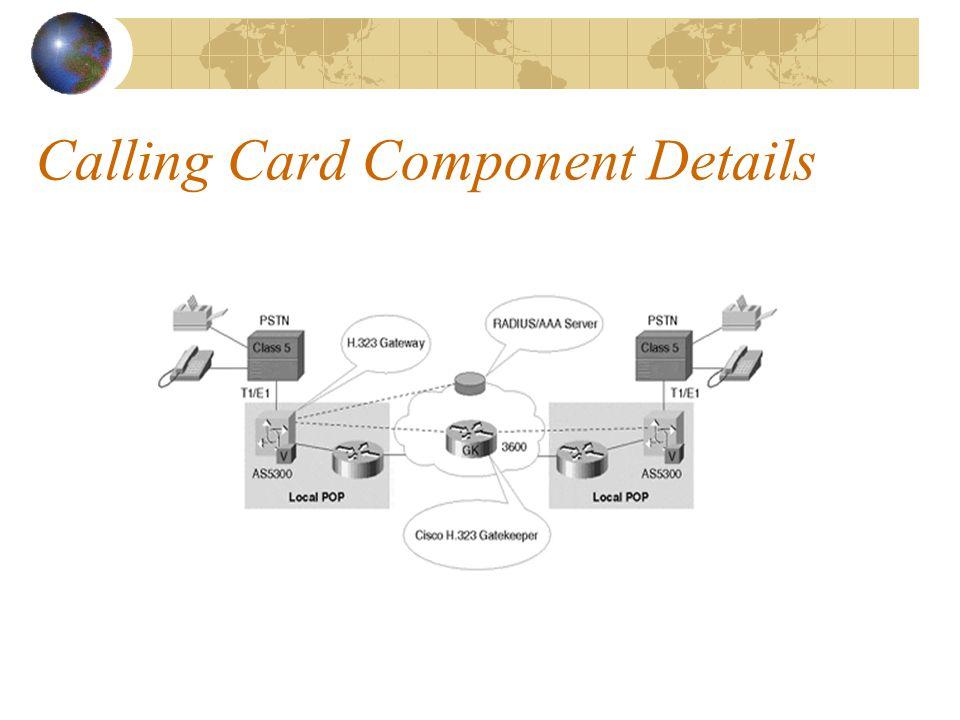 Calling Card Component Details