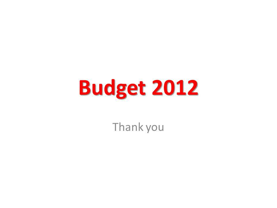 Budget 2012 Thank you