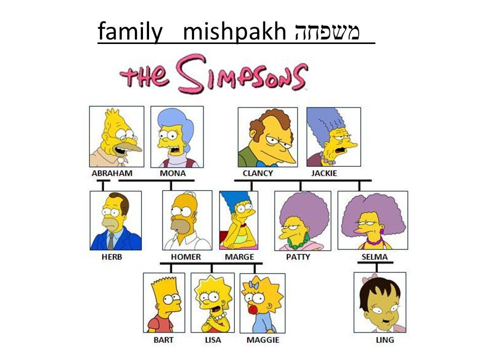 family mishpakh משפחה