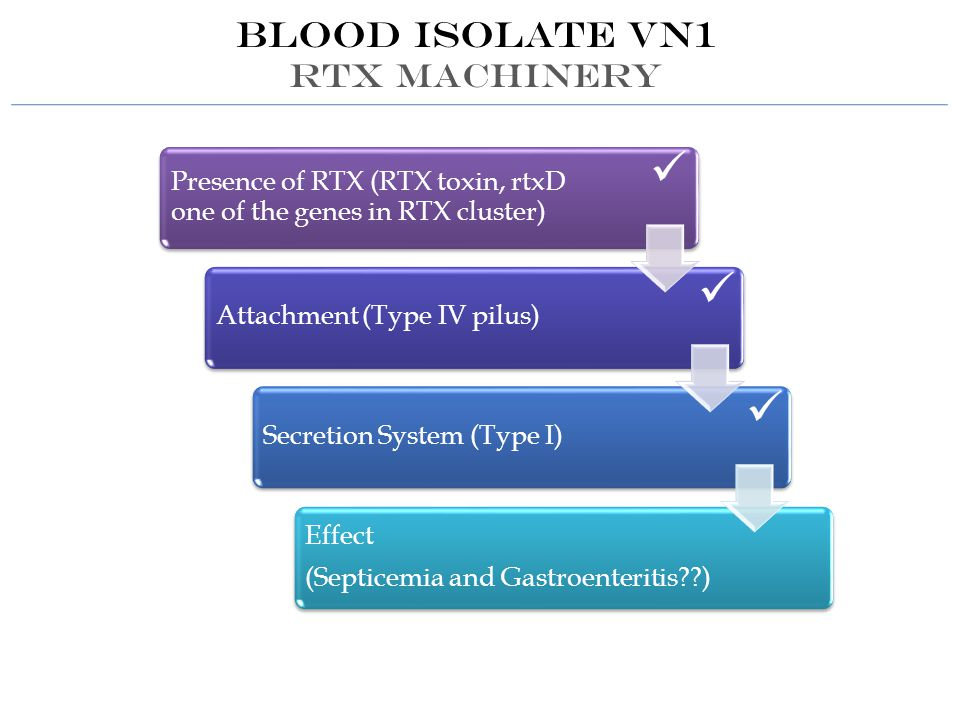Blood isolate VN1 RTX MACHINERY