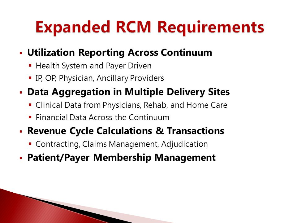  Utilization Reporting Across Continuum  Health System and Payer Driven  IP, OP, Physician, Ancillary Providers  Data Aggregation in Multiple Deli