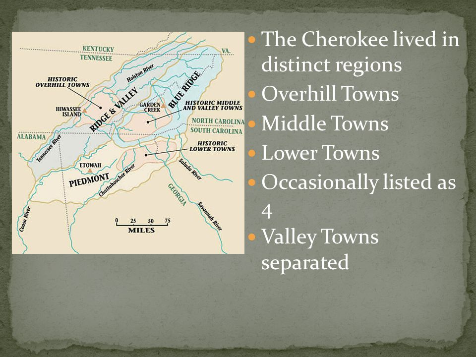The centre of a Cherokee town was the council house 7 Sided 1 for each clan Outside - Uku standard Behind - Treasury