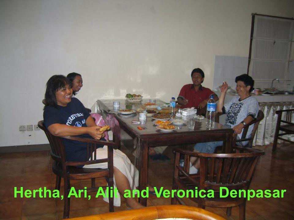 Hertha, Ari, Alit and Veronica Denpasar