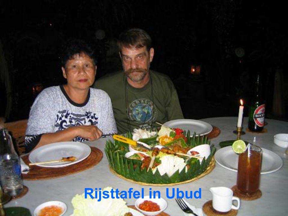 Rijsttafel in Ubud