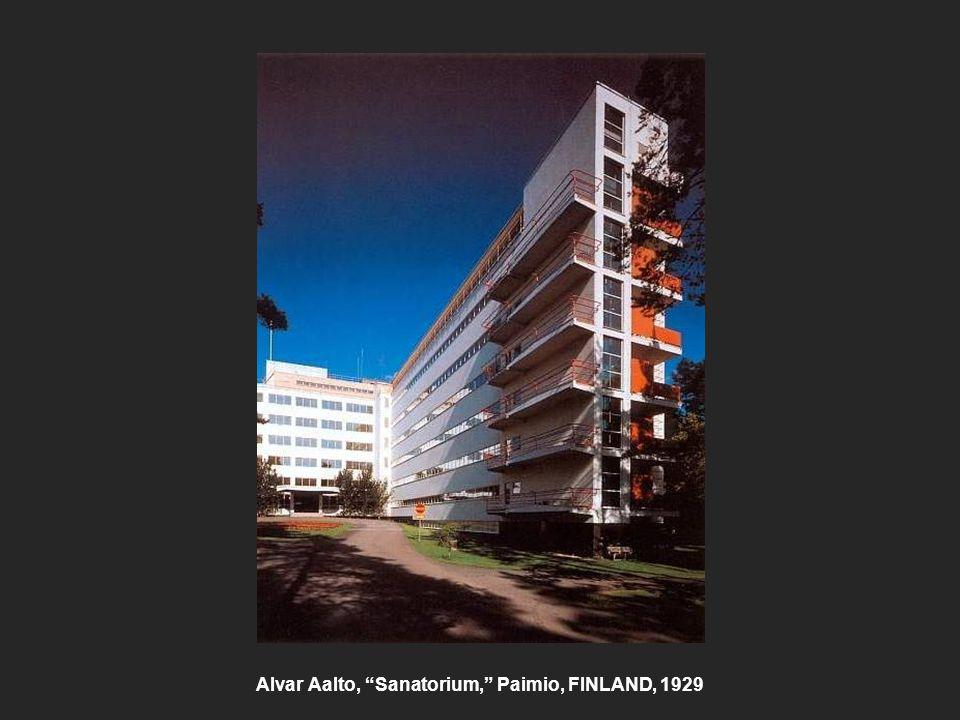 """Alvar Aalto, """"Sanatorium,"""" Paimio, FINLAND, 1929"""
