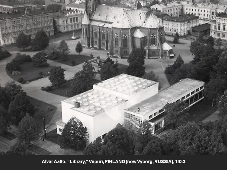 "Alvar Aalto, ""Library,"" Viipuri, FINLAND (now Vyborg, RUSSIA), 1933"
