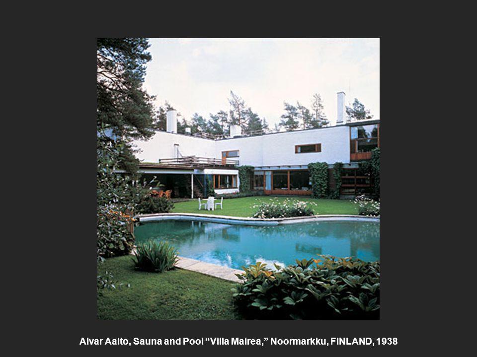 """Alvar Aalto, Sauna and Pool """"Villa Mairea,"""" Noormarkku, FINLAND, 1938"""