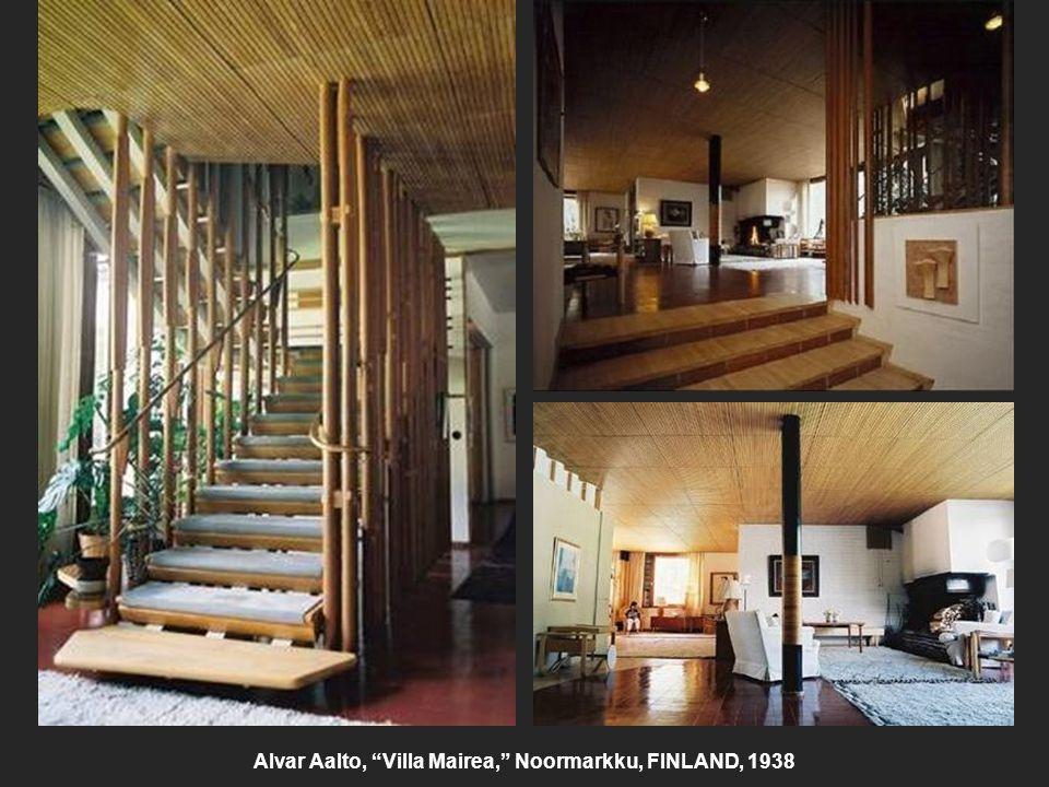 """Alvar Aalto, """"Villa Mairea,"""" Noormarkku, FINLAND, 1938"""