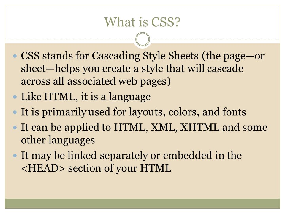 What is CSS.