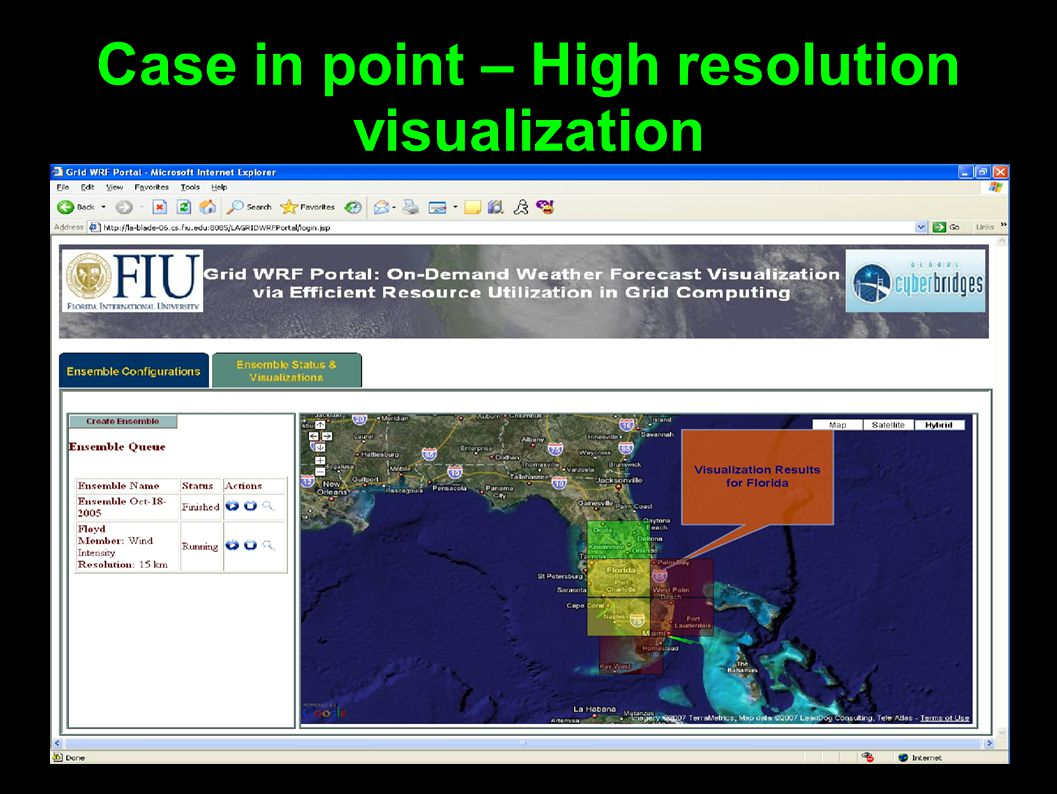 Case in point – High resolution visualization