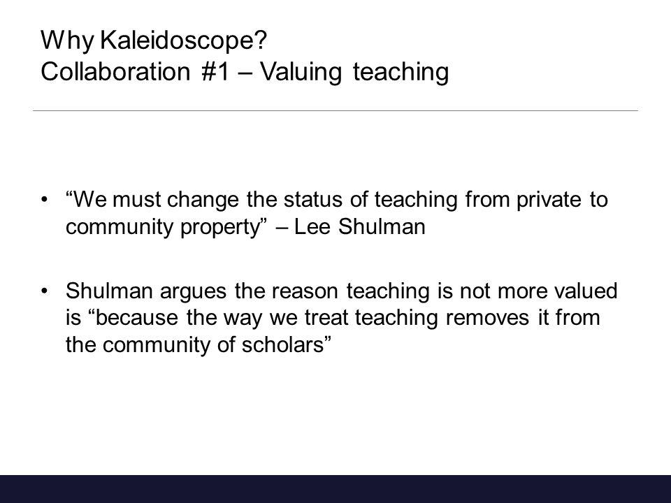 Why Kaleidoscope.