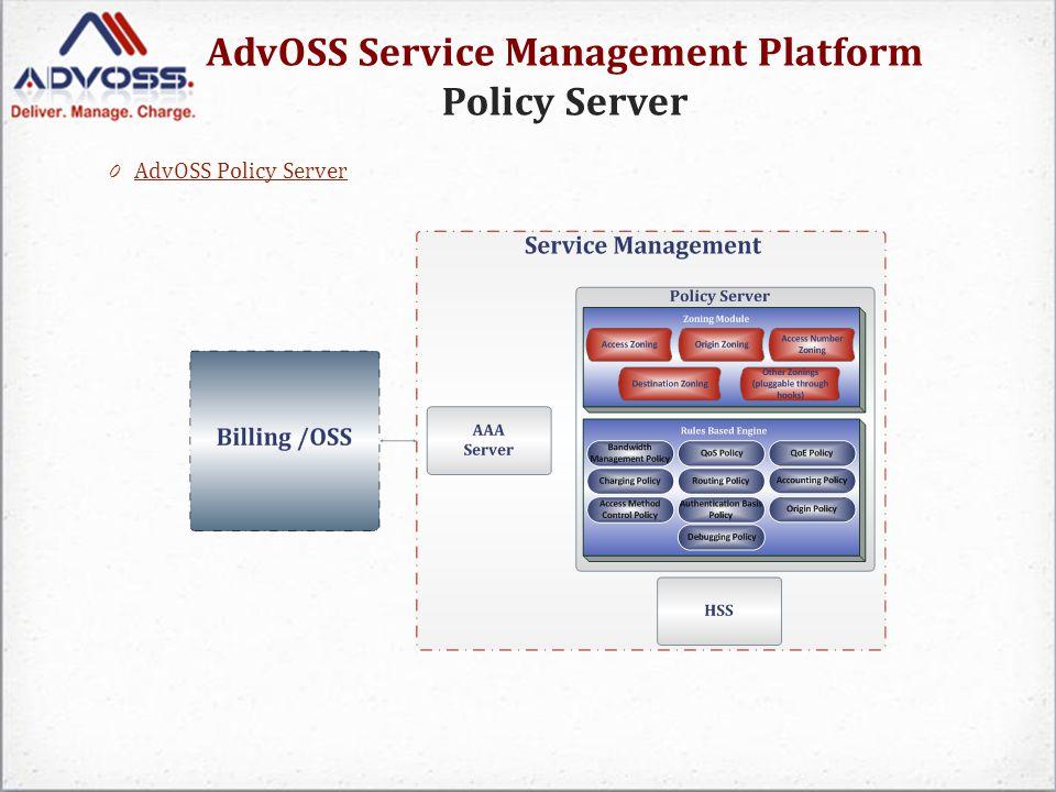 AdvOSS Service Management Platform Policy Server 0 AdvOSS Policy Server AdvOSS Policy Server