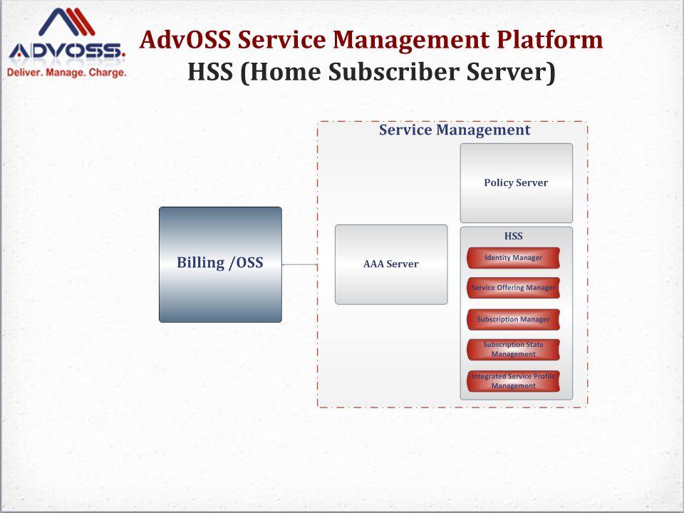 AdvOSS Service Management Platform HSS (Home Subscriber Server)