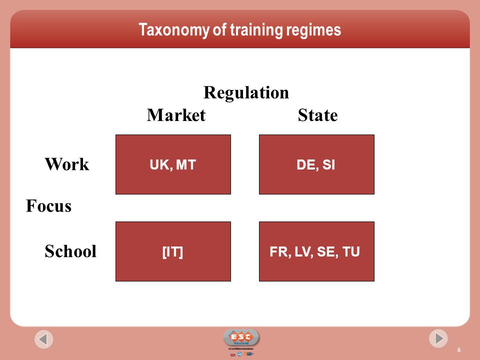  national level framework agreements to promote lifelong learning (FR)  Bargaining or formal consultation rights on company training plans  Individual right to training leave, paid training and annual developmental interview  sector level engagement with employers (DE) forecasting skills needs, developing qualifications and recognising competence  workplace level activity promoting training as an organising instrument (UK) Strategies for increasing trade union involvement
