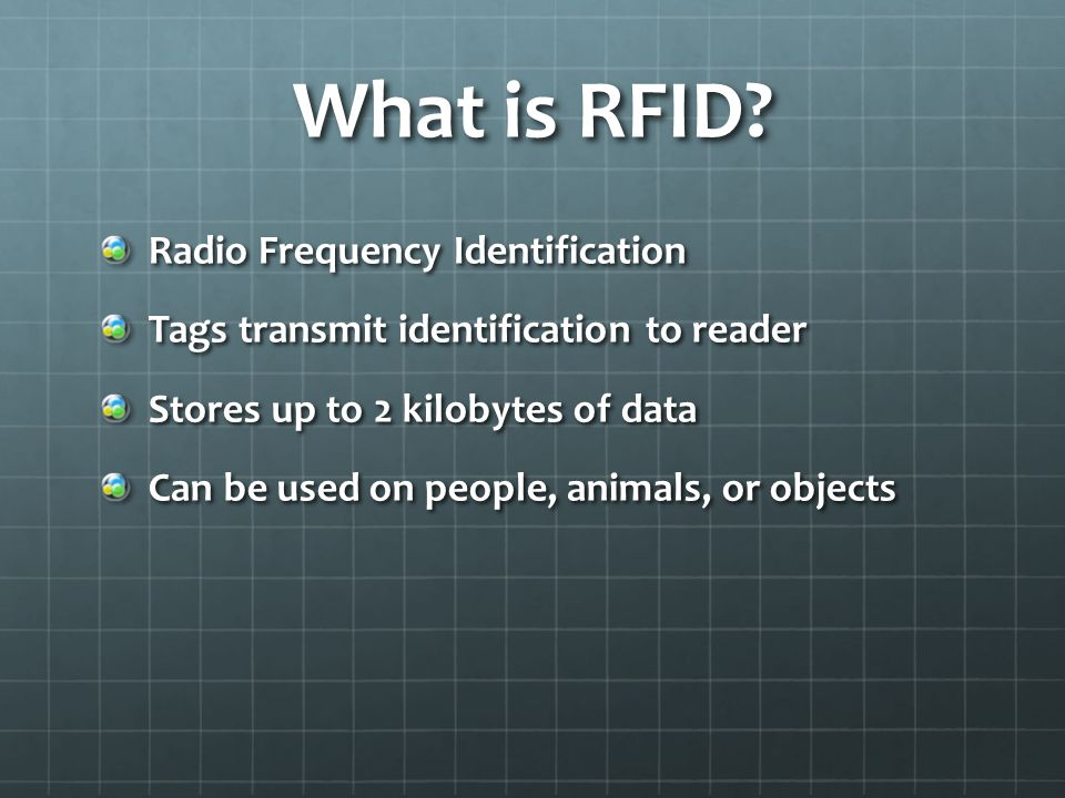 RFID Disadvantages Cost Security Concerns Dead areas