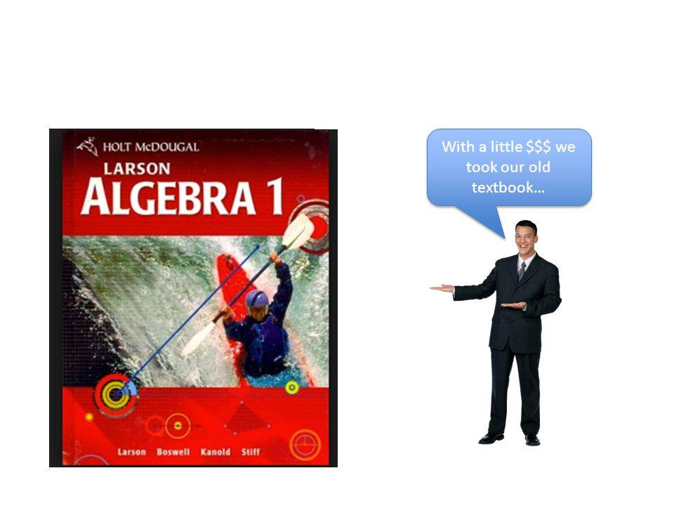Sample Algebra Worksheet This should look familiar.