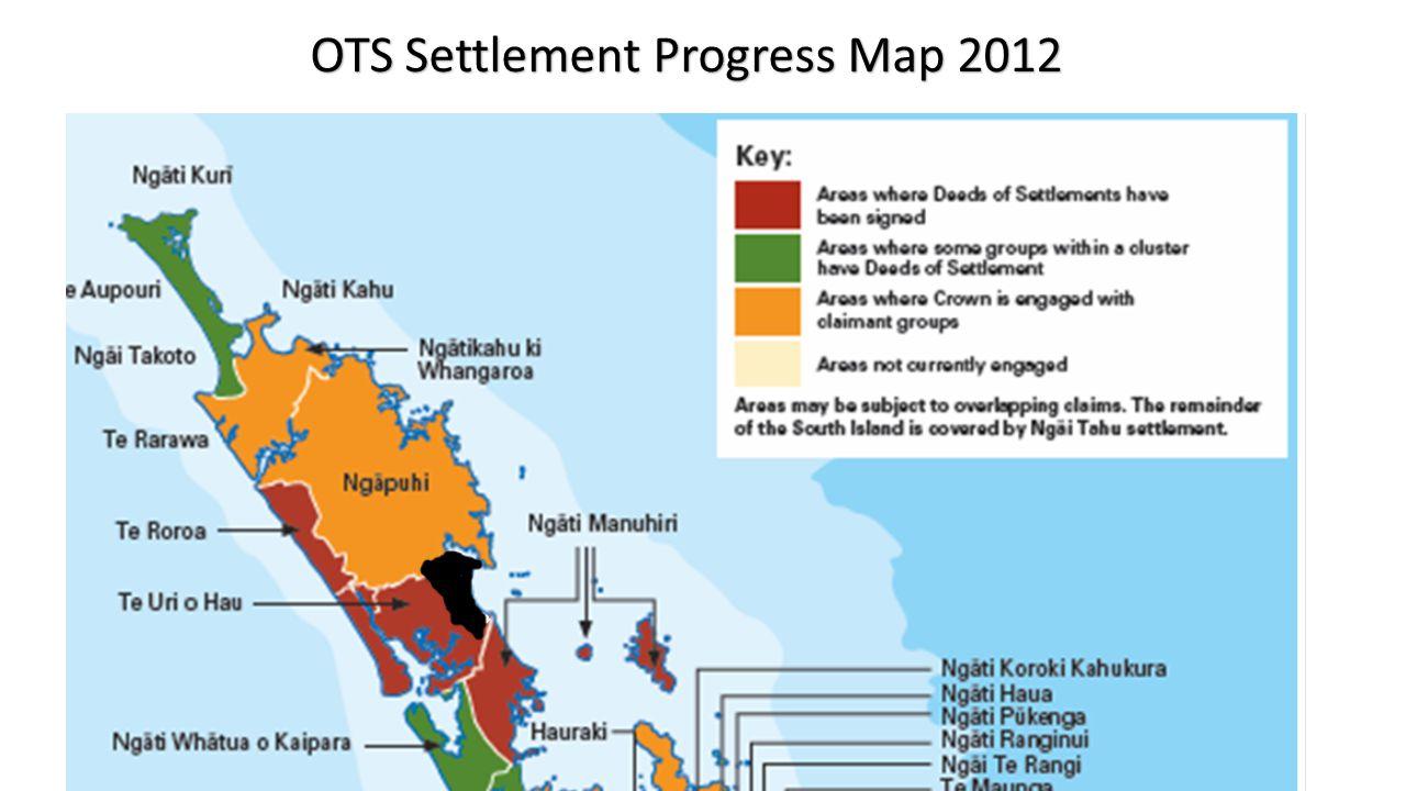 OTS Settlement Progress Map 2012
