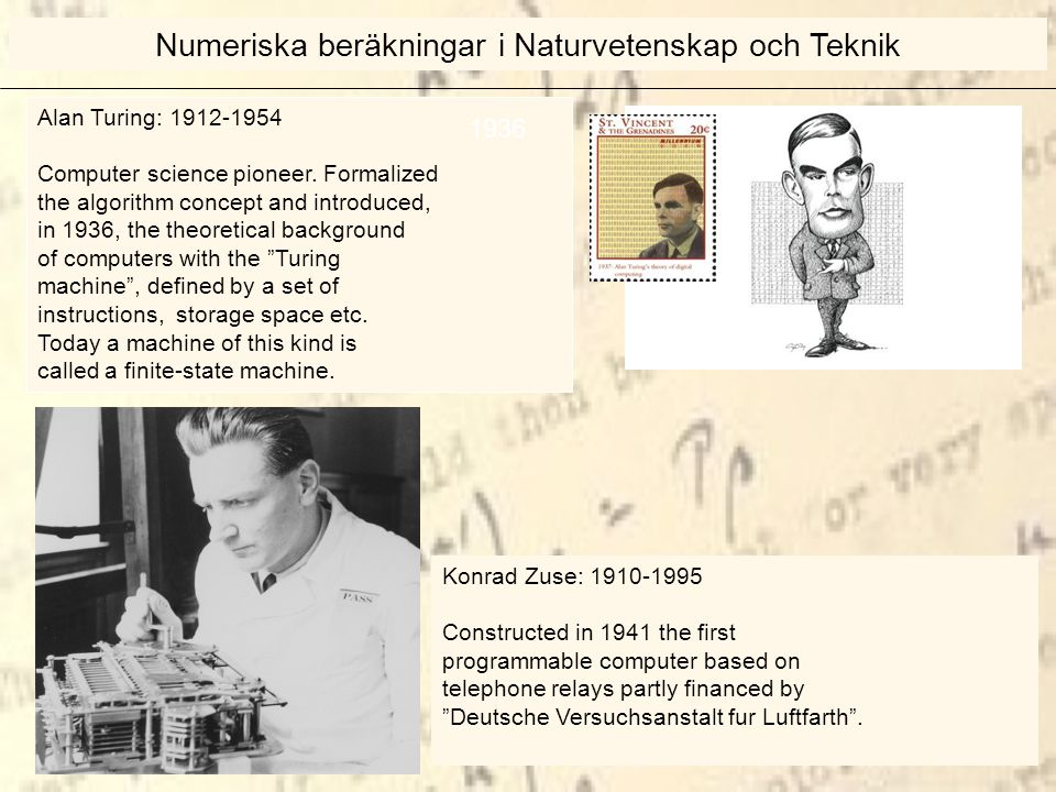 Alan Turing: 1912-1954 Computer science pioneer.