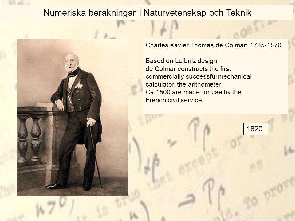 Charles Xavier Thomas de Colmar: 1785-1870.