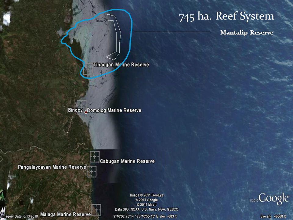 745 ha. Reef System Mantalip Reserve