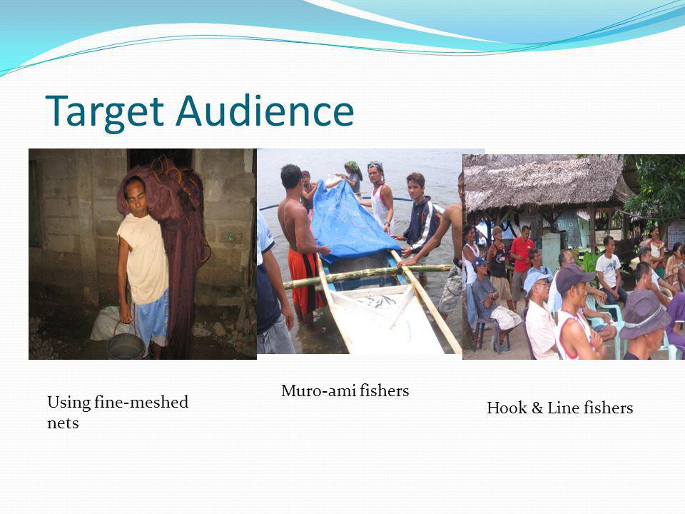 Target Audience Using fine-meshed nets Muro-ami fishers Hook & Line fishers
