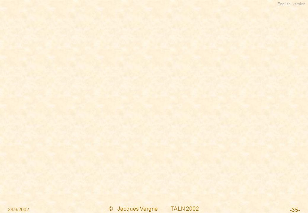 English version 24/6/2002 © Jacques Vergne TALN 2002 -35-