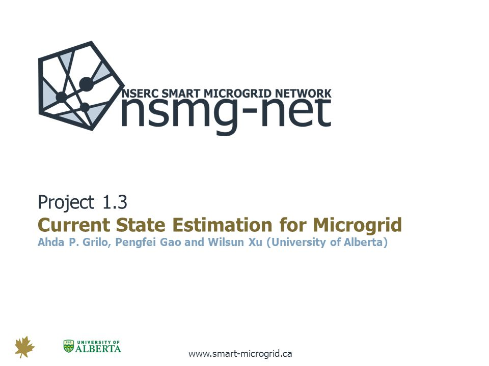 www.smart-microgrid.ca T HEME 3, P ROJECT 3.2 Frequency Regulation by Aggregator-based Electric Vehicles Charging Control via Wireless Communications Chon Chon Wang Chao (MEng Student) Quang-Dung Ho (Research Associate) Tho Le-Ngoc (McGill University)