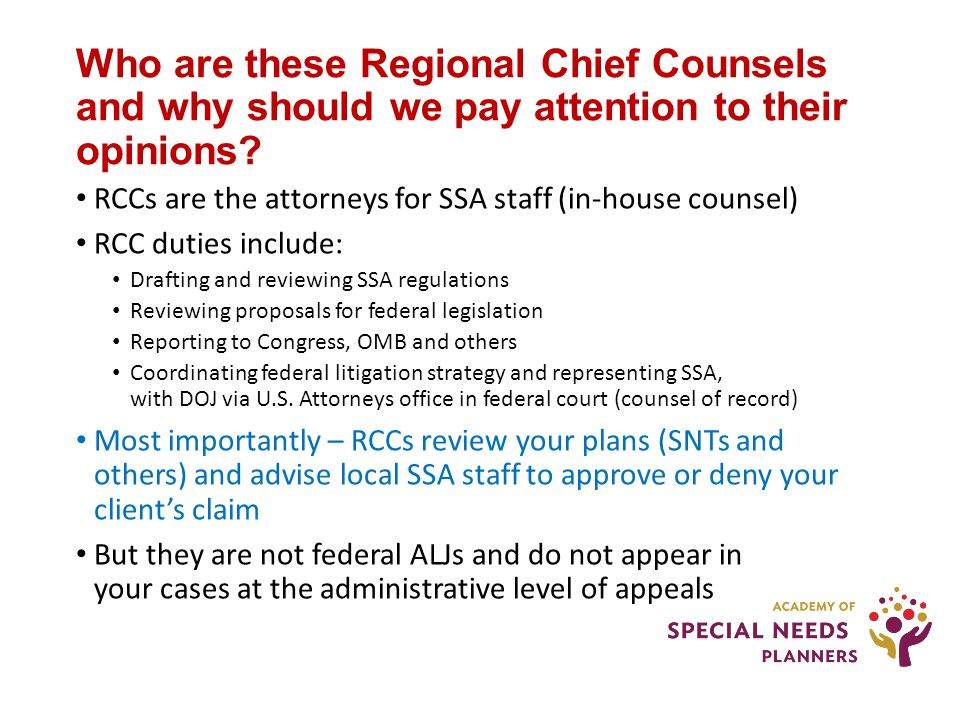 Who are these Regional Chief Counsels and why should we pay attention to their opinions.