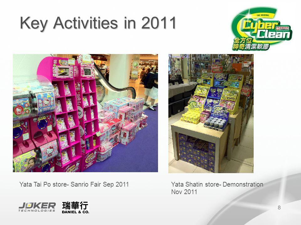 9 Key Activities in 2011 City Super-Back to School Program Aug 2011 Sino Group-Easy Living Household service Nov 2011 City Super-Avarex Cleaning Kit for X'mas promotion Nov-Dec 2011
