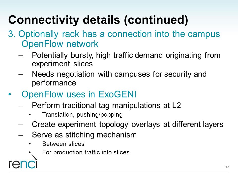 Connectivity details (continued) 3.