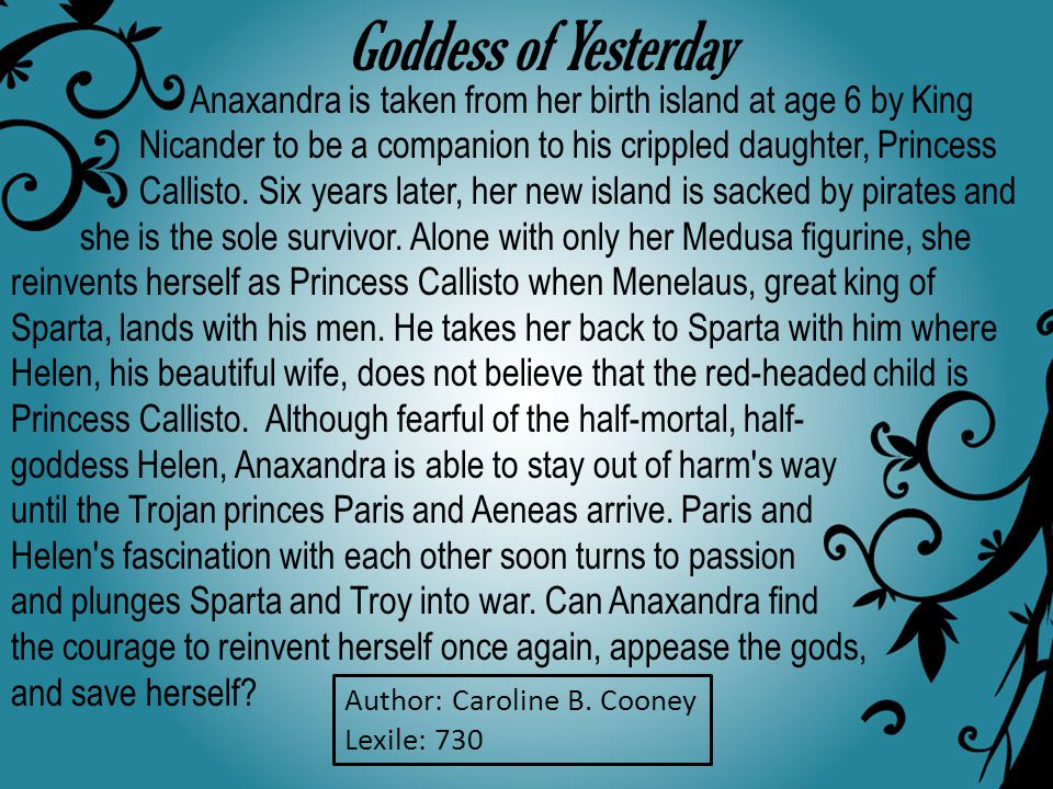 Anaxandra is taken from her birth island at age 6 by King Nicander to be a companion to his crippled daughter, Princess Callisto.