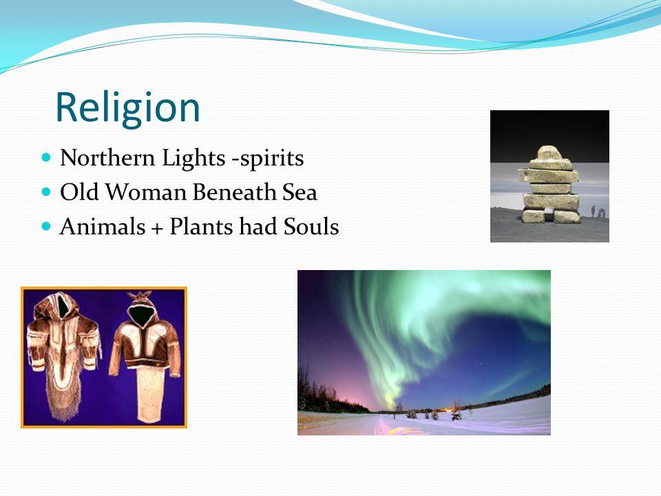 Religion Northern Lights -spirits Old Woman Beneath Sea Animals + Plants had Souls