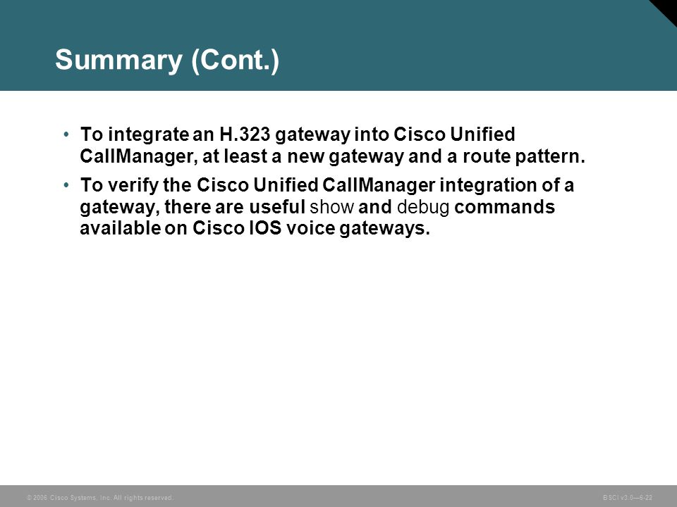© 2006 Cisco Systems, Inc. All rights reserved. BSCI v3.0—6-23